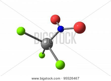 Chloropicrin molecular structure isolated on white