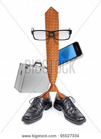 Funny Businessman Boss Tie Character Cartoon