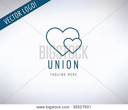 Heart Icon Vector Icon. Love, Health or Doctor and Relations symbols. Stock design element.