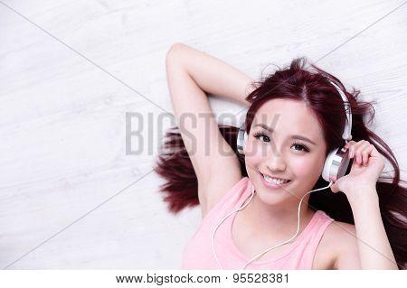 Woman Enjoying The Music