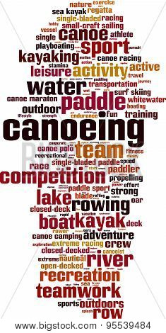 Canoeing Word Cloud