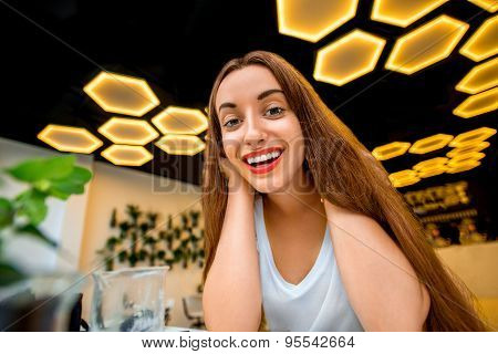 Woman in the modern interior