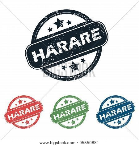 Round Harare city stamp set