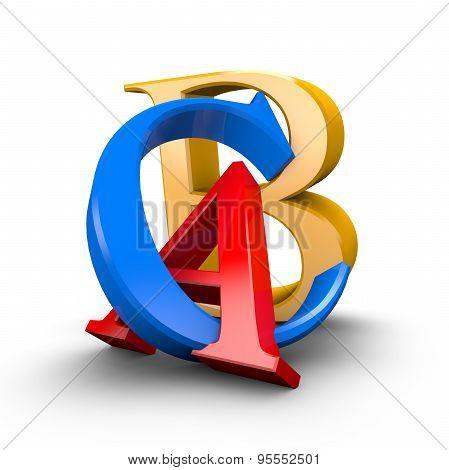Shiny Abc Letters. Education, Pedagogy, Learning Languages Idea.