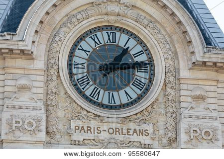The museum D'Orsay in Paris France. Musee d'Orsay has the largest collection of impressionist and post-impressionist paintings in the world.