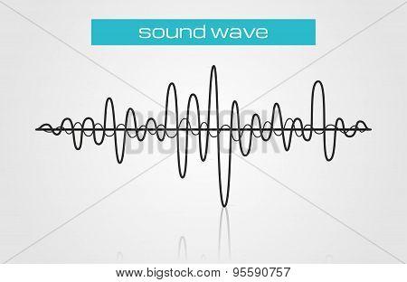 Halftone Sound Wave Modern Music Design Element Isolated