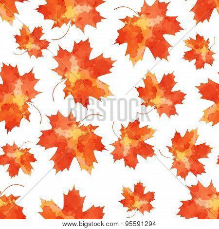 Seamless vector pattern mapple leaves