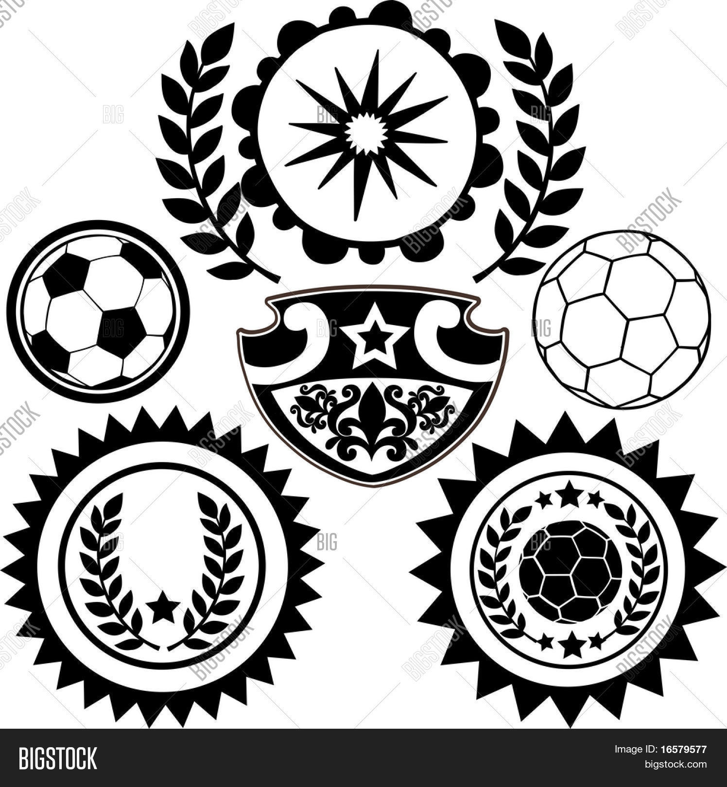 Sports Soccer Crests And Patch Vector Illustration