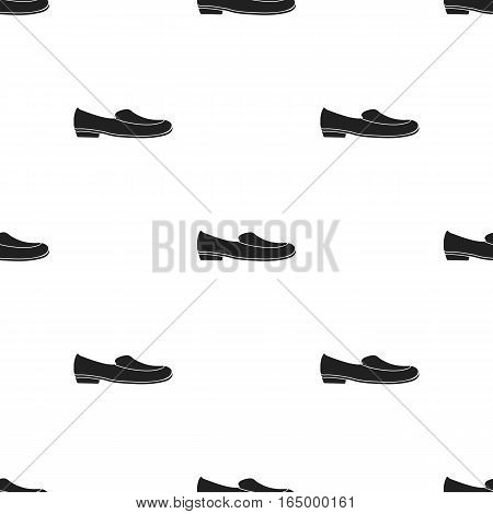 Loafers icon in  black style isolated on white background. Shoes pattern vector illustration.