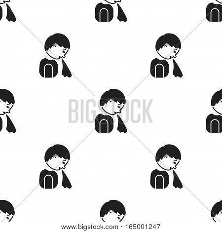 Vomiting icon black. Single sick icon from the big ill, disease black. - stock vector
