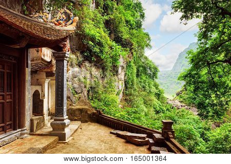 Scenic View From The Bich Dong Pagoda, Ninh Binh, Vietnam