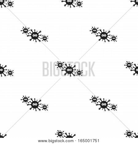 Virus icon black. Single sick icon from the big ill, disease black. - stock vector