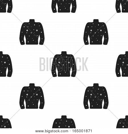 Rash icon black. Single sick icon from the big ill, disease black. - stock vector