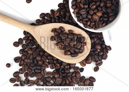 coffee beans isolated on white background, isolated objects