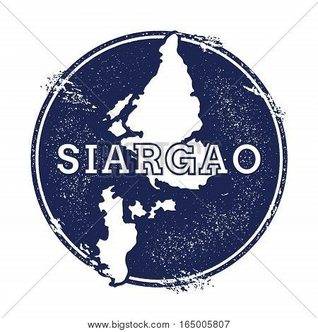 Siargao Vector Map. Grunge Rubber Stamp With The Name And Map Of Island, Vector Illustration. Can Be