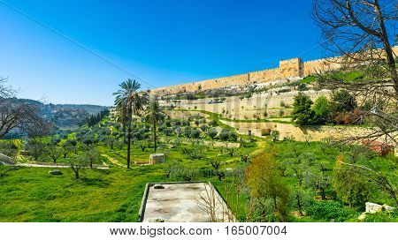 The Walls Of Jerusalem From The Kidron Valley