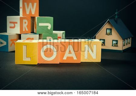 Loan Word With Colorful Blocks