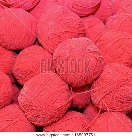 Lots Of Soft Wool For Sale Balls In Wool And Fabric Store