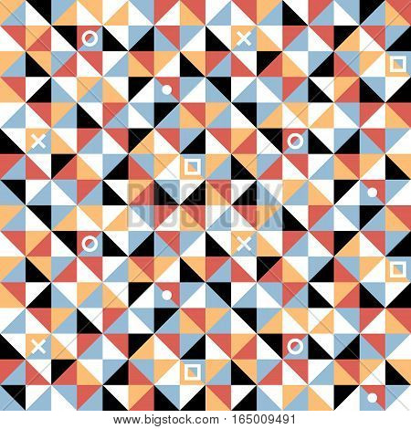 Seamless Geometric Pattern In Flat Style. Useful For Wrapping, Wallpapers And Textile.