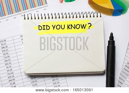 Notebook With Did You Know