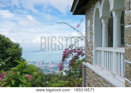 An old British Guard's House on Penang Hill Malaysia during the British Colonial Era