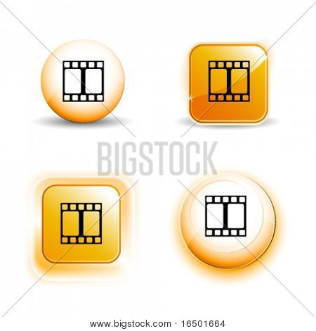 Small Set of Shiny Glossy Film Strip Icons