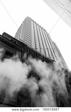 Vapor From Street Underground In Nyc