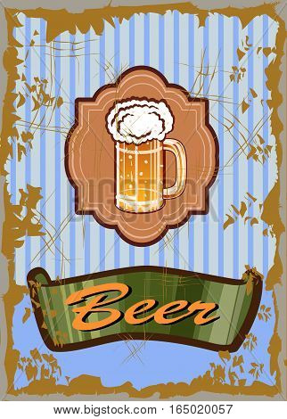 Vector icon illustration banners on topic with beer .