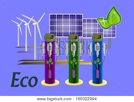 Vector refueling electric car charging battery hybrids