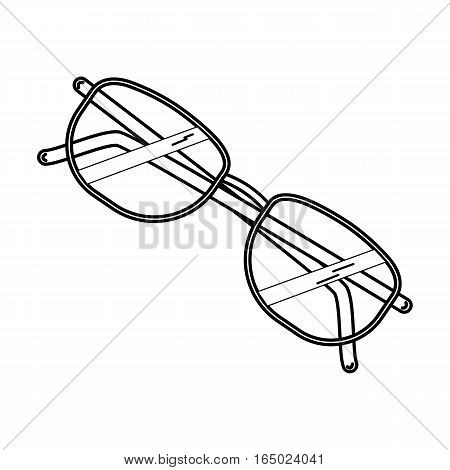 Modern thin line icon spectacles, glasses. Simple mono linear pictogram. Premium quality outline symbol collection. Stroke vector logo concept for web graphics.
