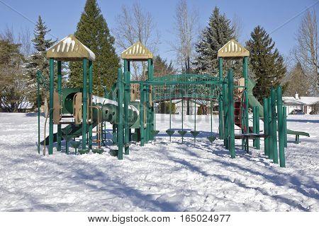 Children playground in a public park Gresham Oregon.