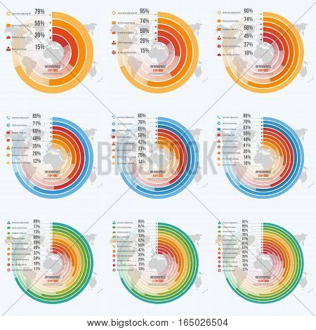 Vector Templates For Circle Informative Infographics With 4-12 Options For Presentations, Advertisin