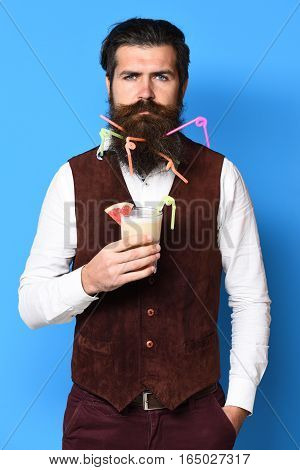 Serious Handsome Bearded Man