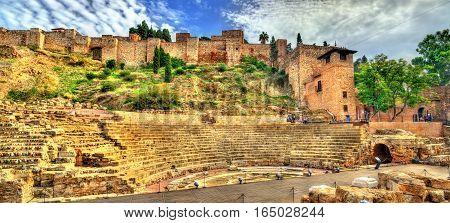 Ancient Roman Theatre in Malaga - Andalusia, Spain