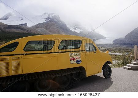 Edmonton, Canada - September 7, 2016: Columbia Icefields Snow Co