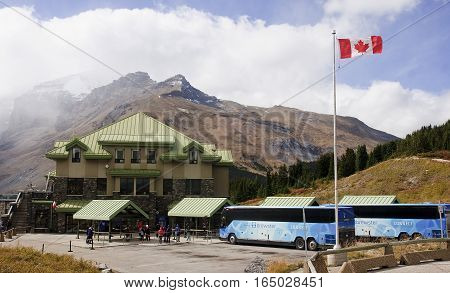 Jasper, Canada - September 7, 2016: Columbia Icefields Discowery