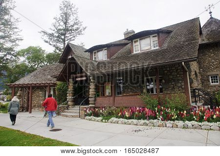 Jasper, Canada - September 8, 2016: Tourist Visitor Center On 8