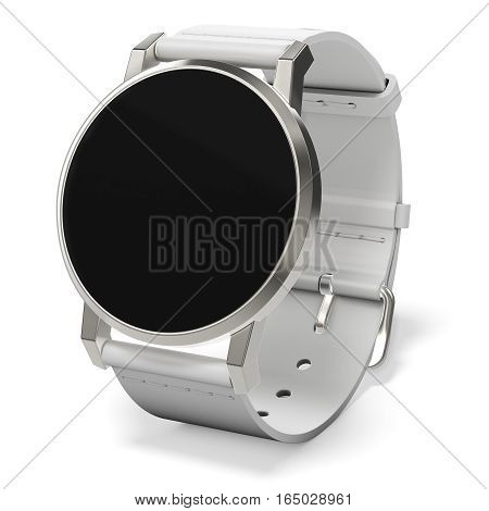Generic Smart Watch With White Strap