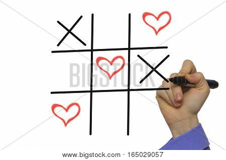 Happy Valentines Day Tic-tac-toe By Xoxo,