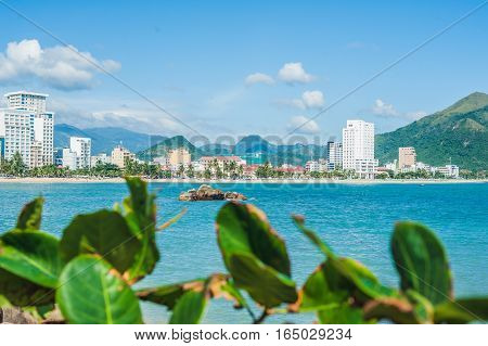 View Of The Nha Trang And The Hills From Hon Chong Cape, Garden Stone, Popular Tourist Destinations