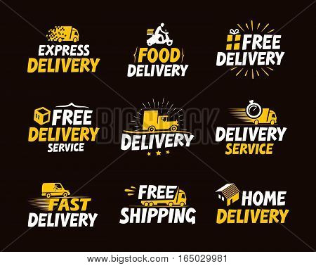 Icons set shipping and delivery. Vector illustration. business symbol