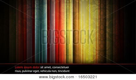 Abstract Neon Stripes | Seamless Damask Vector Texture in the Background