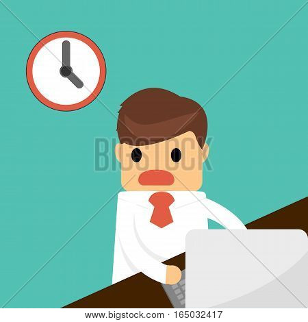 busy businessman unfinished work. Business concept .