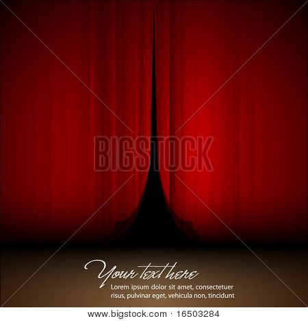Theater Opening Stage | Vector Satin | EPS10 Background