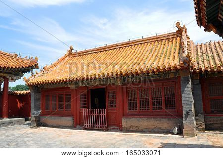 Eastern Accompanied House of Imperial Ancestral Temple in Shenyang Imperial Palace (Mukden Palace), Shenyang, Liaoning Province, China. Shenyang Imperial Palace is UNESCO world heritage site.