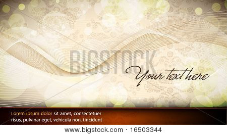 Elegant Wavy Design | Abstract Vector Card | Seamless Damask Vector Texture in the Background