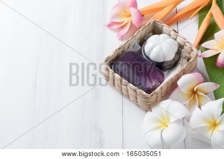 Homemade Herbal Soap Extracts From Mangosteen In Gift Box