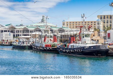 Victoria and Alfred Waterfront and harbour in Cape Town
