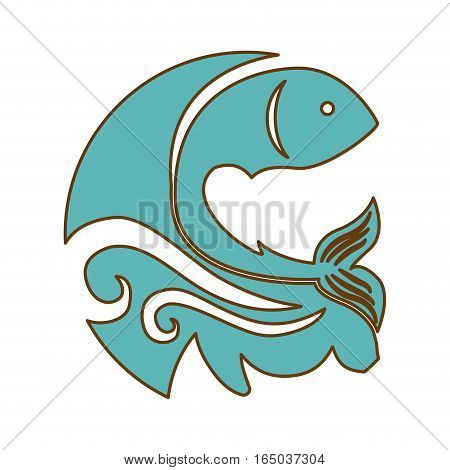 abstract fish emblem  icon image vector illustration design