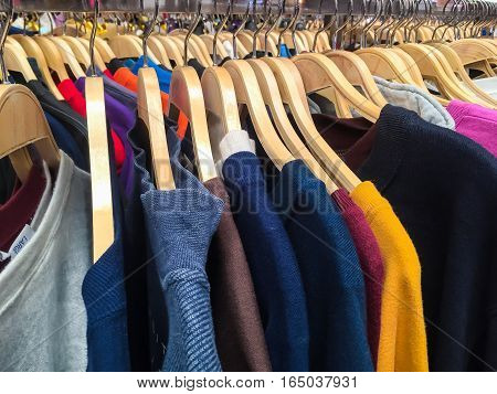 Colorful Blouse Hanging On Clothesline